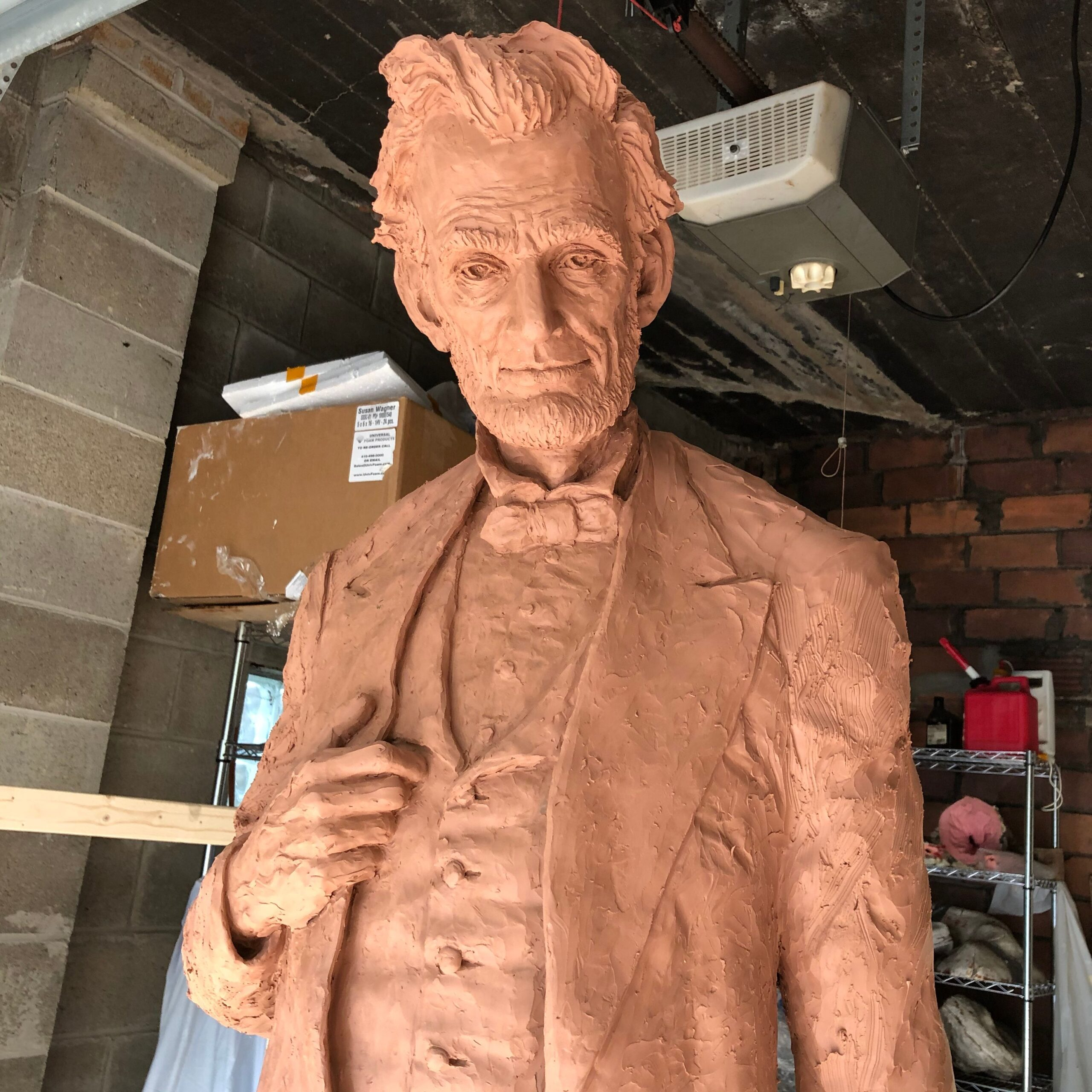 Abe Lincoln In Clay